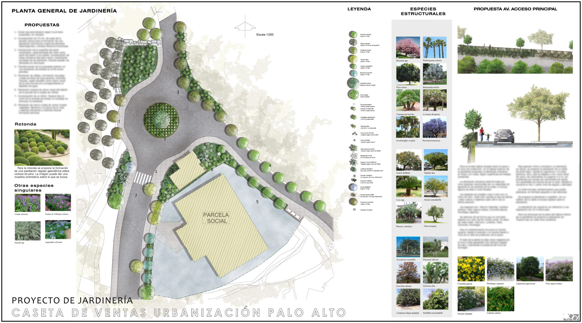 Jardinería caseta de ventas Palo Alto, Marbella