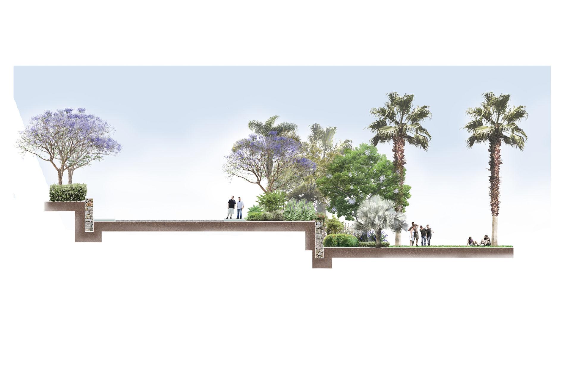 Sección proyecto jardinería para Club Social Big Blue, Benalmádena